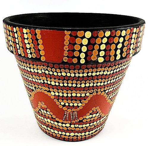 Plant Pot- Line Pattern Design