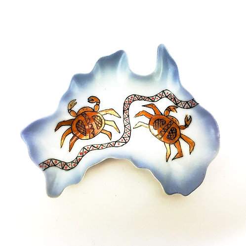 Australia Ceramic Dish - Two Crabs Journey