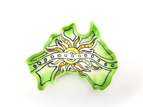 Australia Ceramic Dish - Sun Design