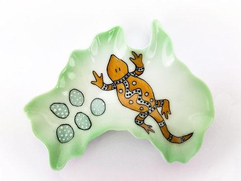 Australia Ceramic Dish - Mumma Lizard Design