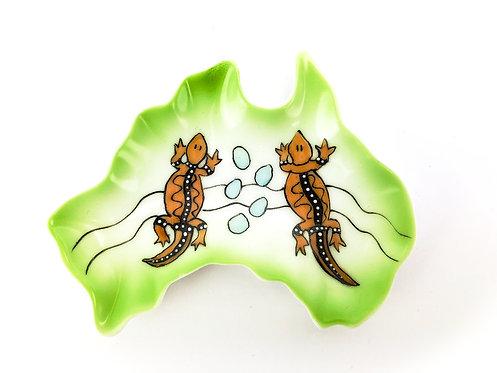 Australia Ceramic Dish -  Two Lizards