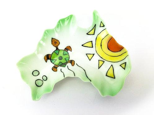 Australia Ceramic Dish - Turtle & Sun