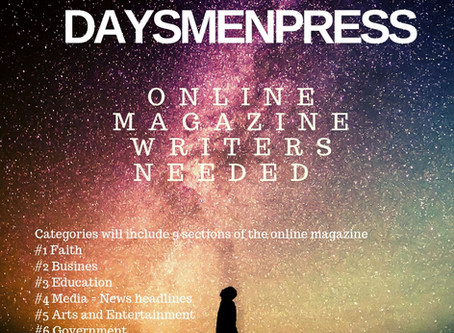 Something New! DaysmenPress.com