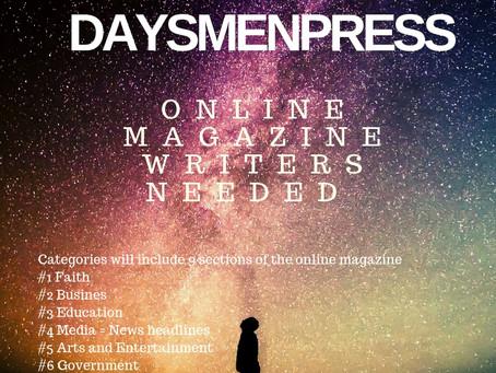 Something New! DaysmenPress.com