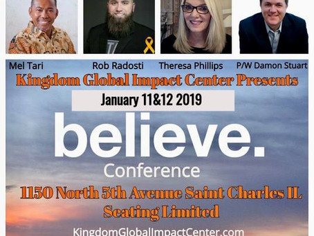 """Believe In Miracles"" Jan 11-12 Mel Tari Rob Radosti Theresa Phillips"