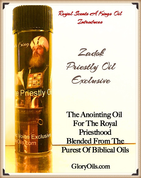 A Priestly/Kingly Oils Blended From Biblical Oils