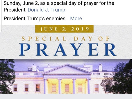 Prayer For The President June 2