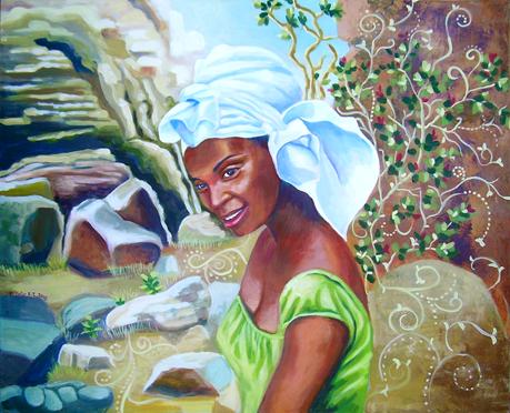 Miss baobab  dans les falaises  de B