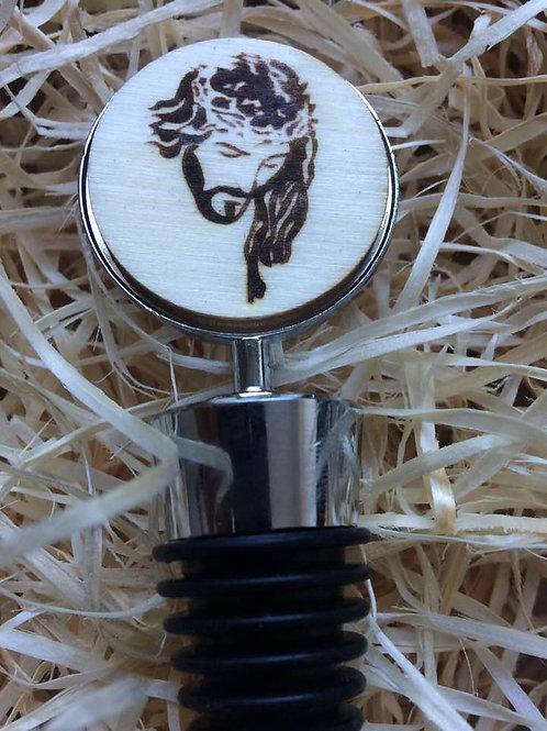 Handmade Weinflaschen Verschluss  JESUS mit Dornenkrone  Gravur 10,5 cm