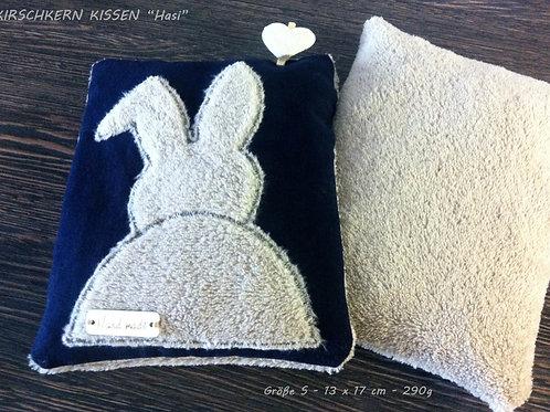 """Handmade KIRSCHKERN KISSEN """"Hasi"""" Hase -Plüsch- small  -290 g"""