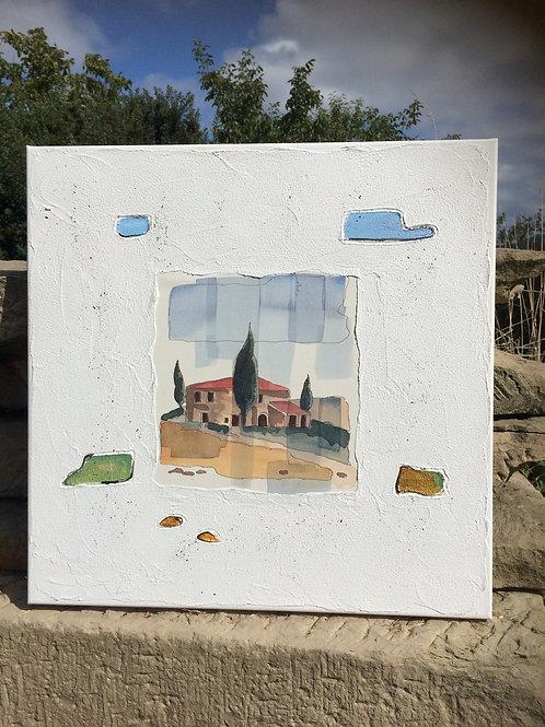 Gemälde von ANDREAS ALBA 50 x 50 cm TOSCANA