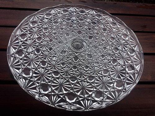 KUCHEN TORTEN Platte Press od. Kristall glas mit FUß 31,5 cm - 7,5 cm hoc