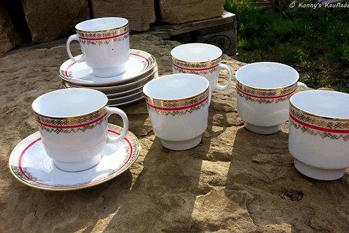 12- teiligesKAFFEE Service SET aus Porzellan EZ PRAHA aus Tchechien