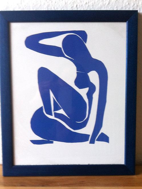 """KUNSTDRUCK """"Blauer Akt"""" Henri Matisse mit HOLZRAHMEN"""