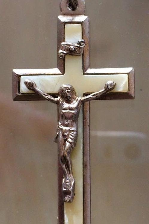 Antikes kleines Kreuz - Kruzifix Permutt - silber aus GERMANY  beten pray INRI