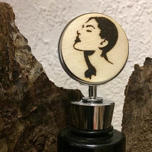 Handmade Weinflaschen Verschluss  DONNA SENSUALE Lasergravur 10,5 c