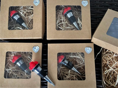 4 er SET handmade Flaschen Stopper Verschluss BOLLENHUT Topping