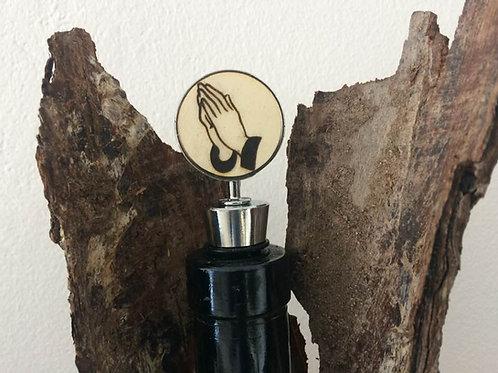 Handmade Wein Flaschen Stopper BETEN Verschluss Gravur 10,5 c