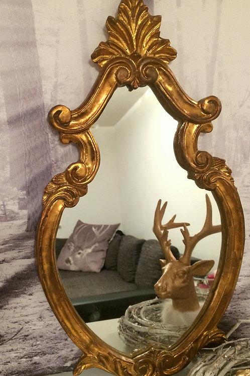 AlterWandspiegel mit Gold-Rahmen in Barock Optik