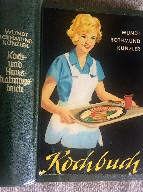 Altes KOCH- UND HAUSHALTUNGSBUCH von 1970 - VINTAGE
