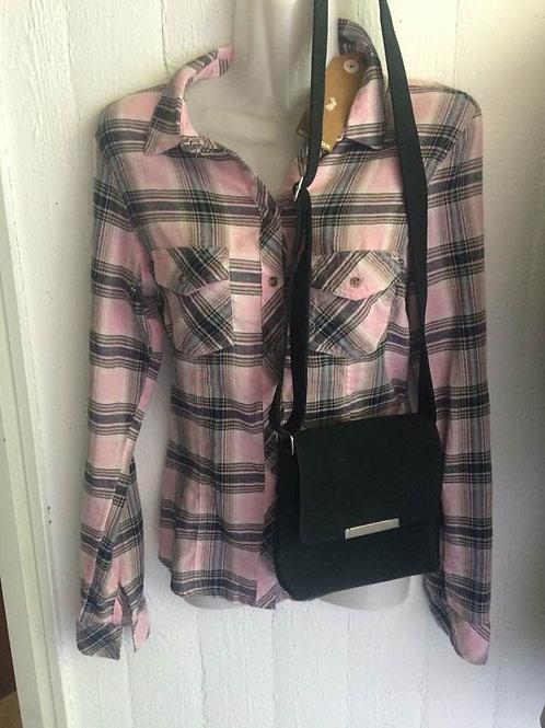 TALLY WEiJL Damen Hemd Bluse kariert grau rosa NEU 34 XS