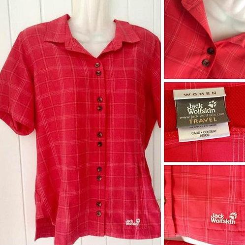 Neuwertige Damen Bluse Hemd der Marke JACK WOLFSKIN rot Gr. L