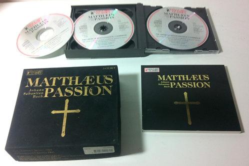 BOX mit 3 CD Set MATTHAEUS PASSION - CDs sind in einem sehr guten Zustand