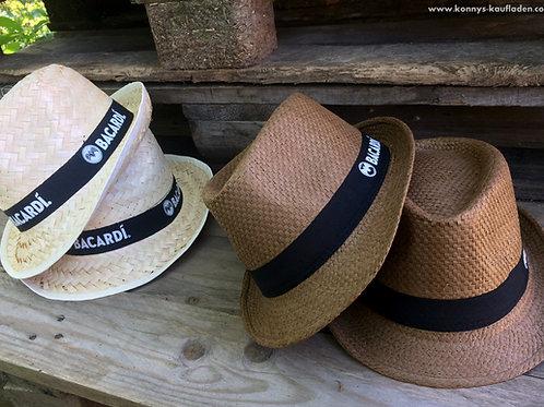 4 er Pack  BACARDI Sommer Strandhüte - 2 Nature & 2 Braun - NEUWARE