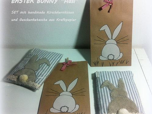 """KIRSCHKERN KISSEN """"Easter Bunny"""" + GESCHENKTÜTE"""