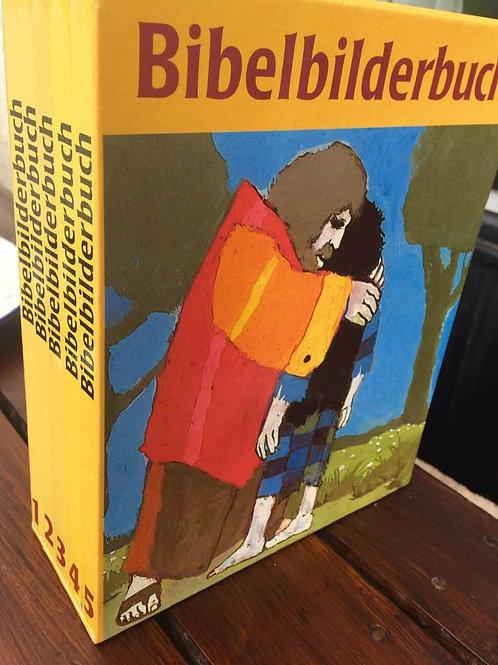 BIBELBILDERBUCH von KEES DE KORT Buchkassette 5 Bücher , 1987