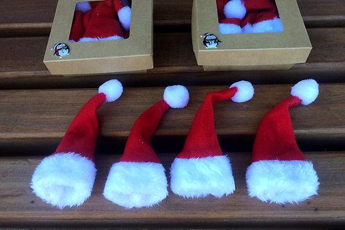 4 FLASCHENMÜTZEN in 2 GESCHENK BOXEN für Nikolaus Weihnachten