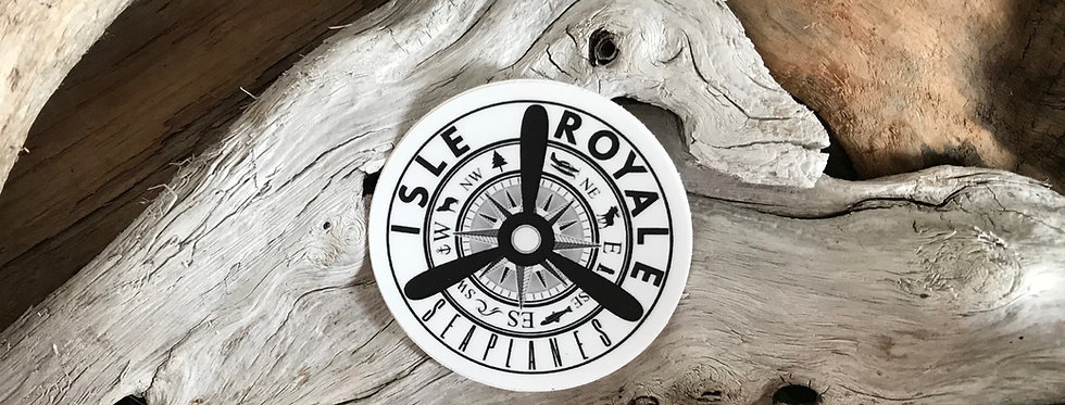 Isle Royale Seaplanes Propeller Compass Sticker