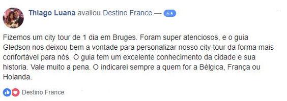 Guia brasileiro em Bruges