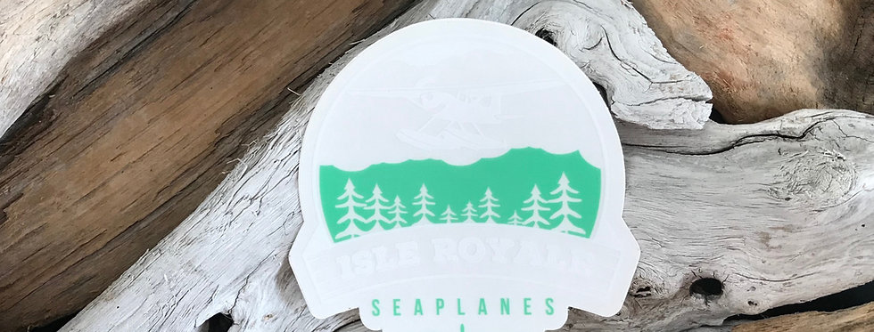 Clear Flying Over Isle Royale Sticker