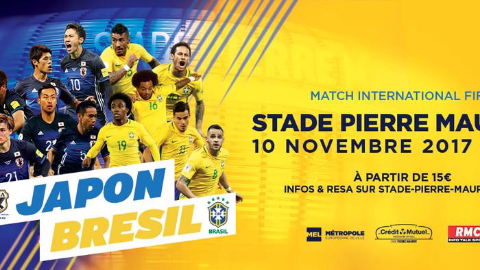 Seleção de futebol Brasileira fará amistoso com o Japão em Lille à 1h de Paris