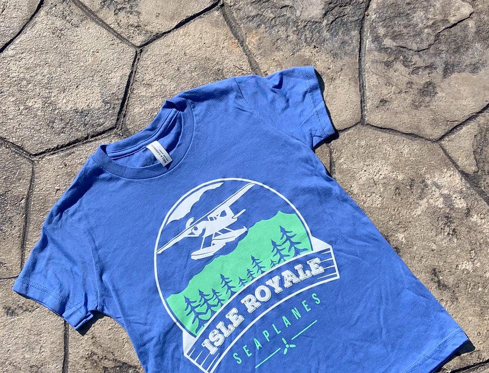 Youth Flying Over Isle Royale T-Shirt Blue