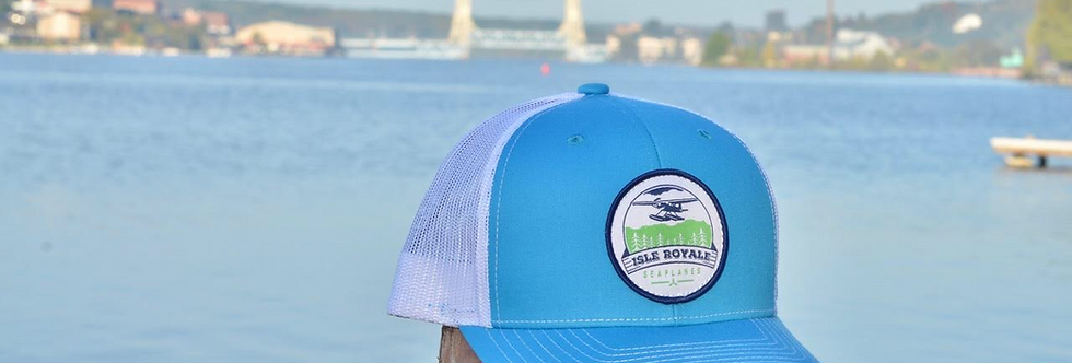 Teal Blue Trucker Hat