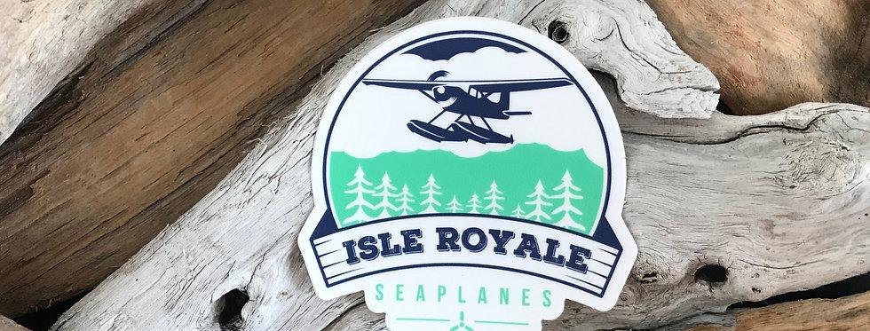 Flying Over Isle Royale Sticker