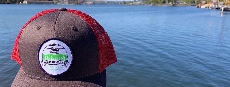 Grey/Red Trucker Hat