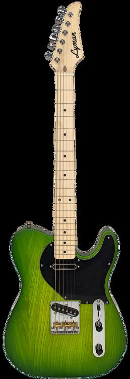 Lyman CS-1 Shamrock Burst T-Style Guitar