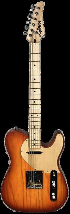 Lyman CS-1 Sweet Potato Burst T-Style Guitar