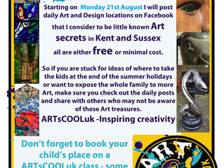 Arts Trail 2017- Engaging families with Art and Design 21st August - 1st September