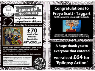 National Doodle Day 2017 - ARTsCOOLuk doodle competition - Entries and winner
