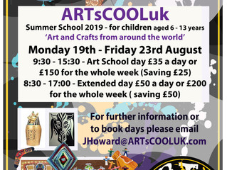 ARTsCOOLuk Summer School 2019 Arts and Crafts from around the world