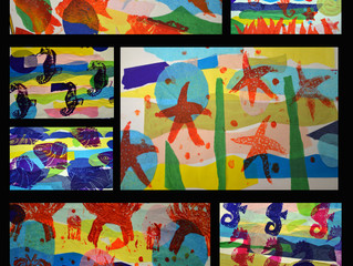 The work produced with ARTsCOOLuk at Sissinghurst Primary School during their Arts week