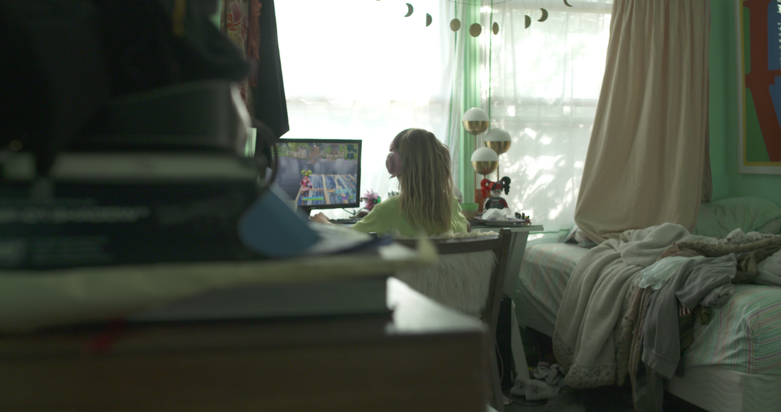 Tate playing video games