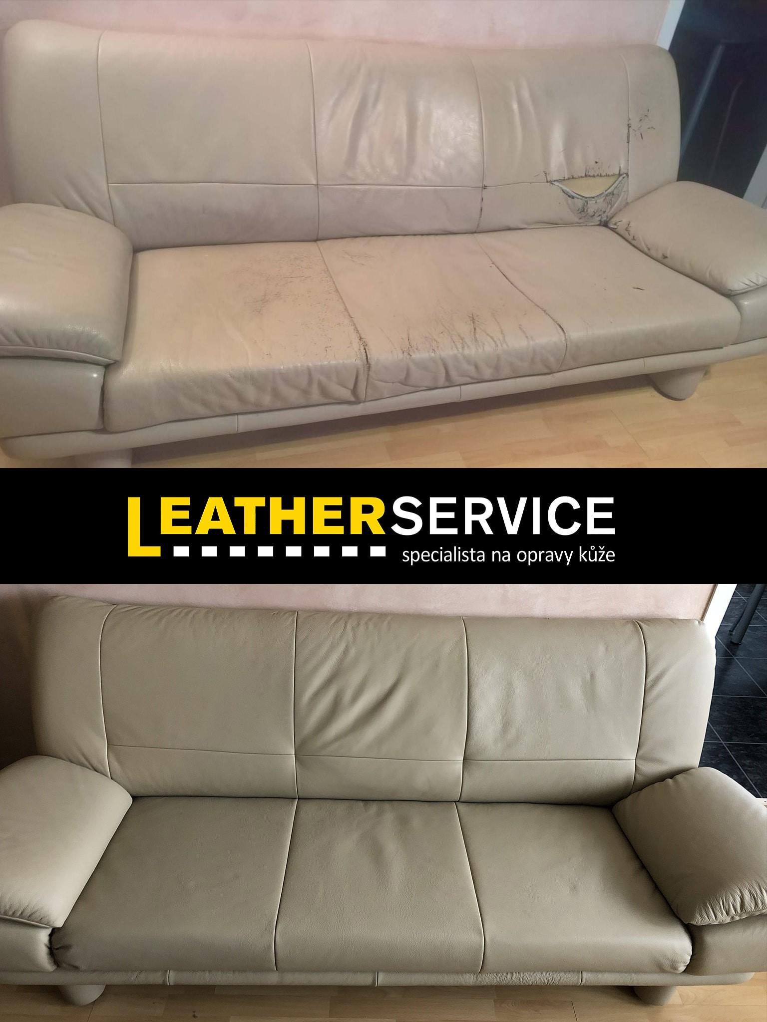 oprava koženého nábytku