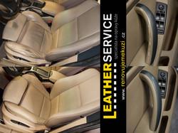 oprava kožených sedaček BMW X5