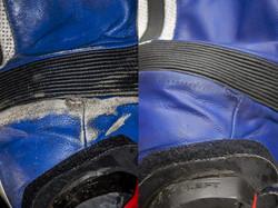 oprava motorkářské kožené kombinézy barvením kůže