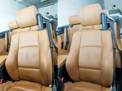 oprava kožené sedačky v BMW 335i